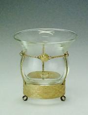 ガラスマテ壺 銀飾り
